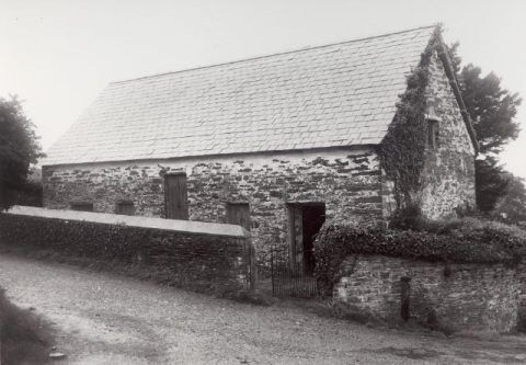 Pen-rhiw Chapel in Drefach, Carmarthenshire, prior to removal to St Fagans National History Museum