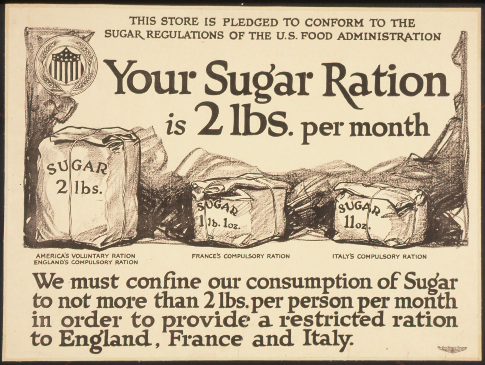 Britain was not the only country with food rations.