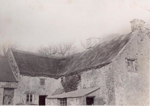 Kennixton Farmhouse in Llangennith, Glamorgan, prior to removal to St Fagans National History Museum