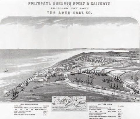 In the nineteenth century new docks were built at Porthcawl to help handle the worldwide demand for coal.