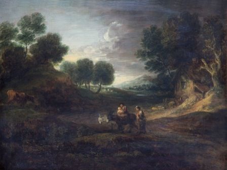 Landscape with Peasants and Donkeys