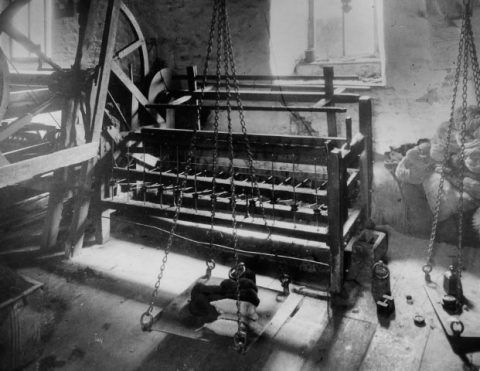 Interior view of Esgair Moel Woollen Mill