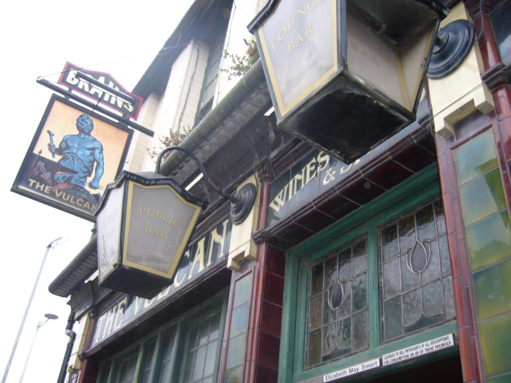 The Vulcan Pub, Cardiff, prior to removal to St Fagans National Museum of History