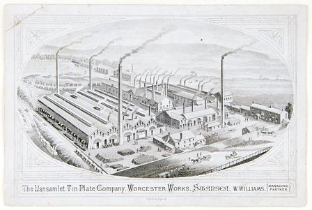 The Llansamlet Tin Plate Company, Worcester Works, Swansea, W. Williams, Managing Partner