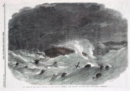 The Wreck of the ROYAL CHARTER on the Coast of Angelsey, Near Moelfre, Five Miles from Point Lynas Lighthouse