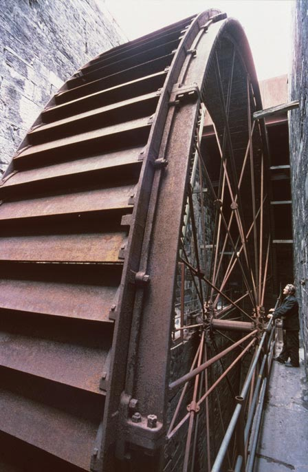 Water wheel, used to run machinery