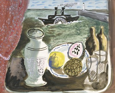 Still life with paddle steamer and pier (1932) John Piper (1903-1992)