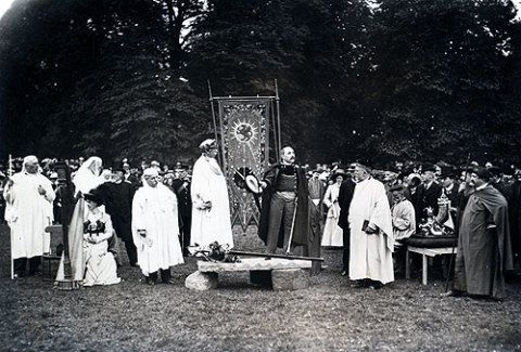 The Gorsedd of the Bards at the London National Eisteddfod, 1909