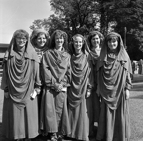 New Gorsedd members invested at Swansea, 1962