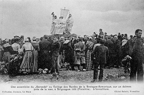 The first public meeting of the Breton Gorsedd, Brignonan, 1903.