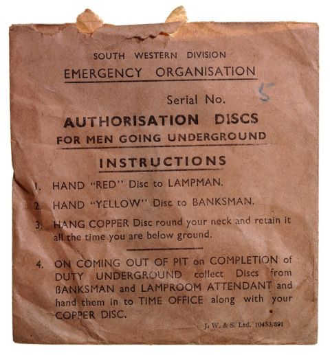 Envelope for Mines Rescue checks
