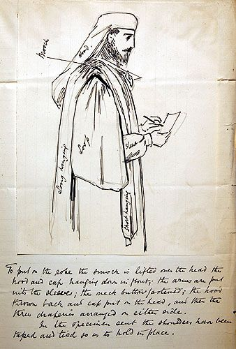 A sketch of the new Gorsedd robes and headgear by T.H.Thomas