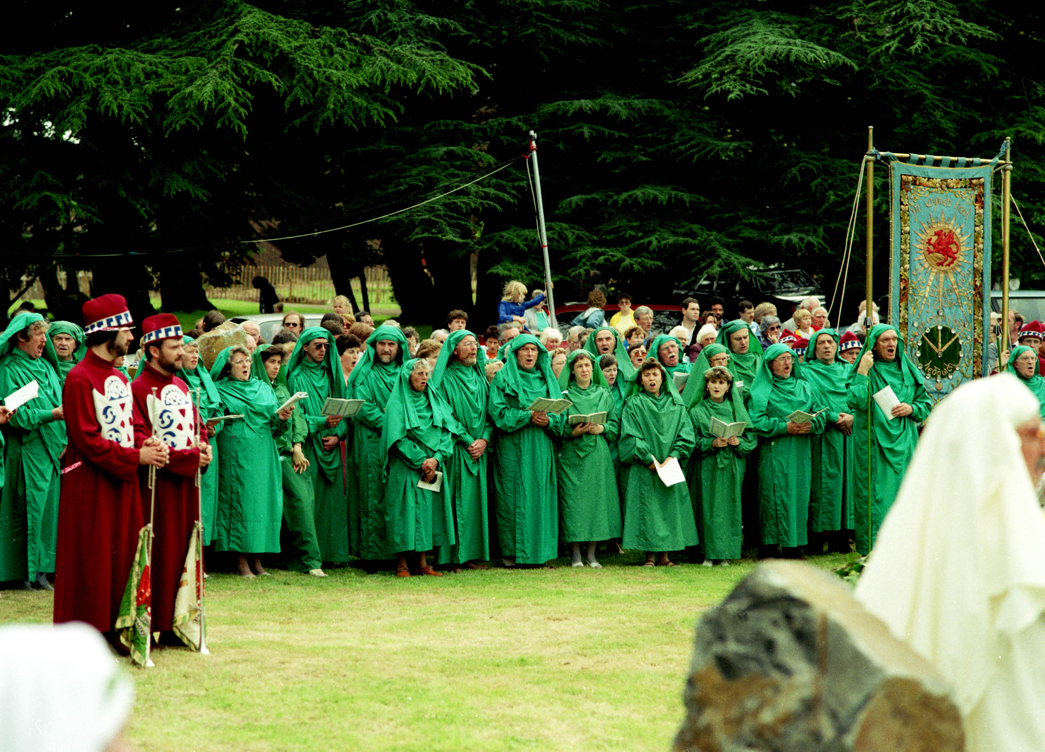Gorsedd members, Newport Porclamation ceremony, 1987