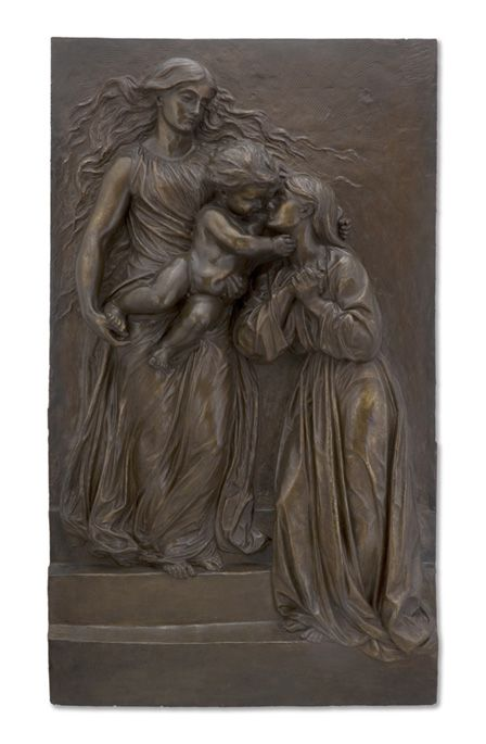 Heavenly Welcome - Model for a memorial to Mrs Mary Ellen Peel (1830-1863)
