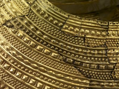Mold Gold Cape (detail of front) © The Trustees of the British Museum.