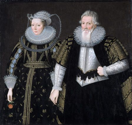 Sir Thomas Mansel and his wife, Jane