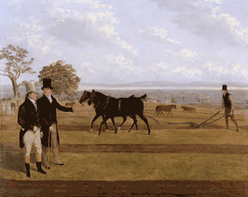 Sir Charles Morgan (1760-1846) at the Castleton ploughing competition