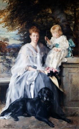 Alice Strong (Mrs Godfrey Clark) and her son Lionel