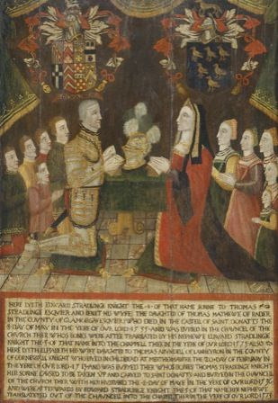 Sir Edward (d.1535) and Lady Elizabeth Stradlinge (d. 1513)