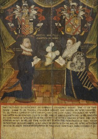 Sir Edward (1529-1609) and Lady Agnes Stradlinge (1547-1624)