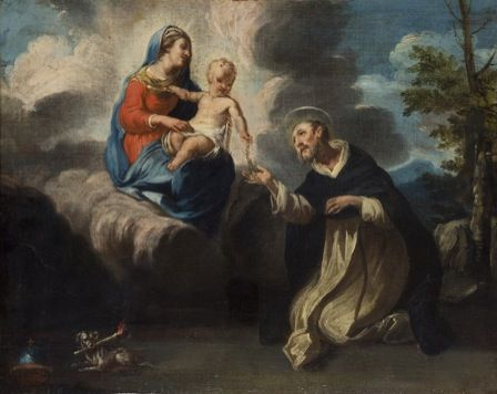 Virgin and Child with St Dominic