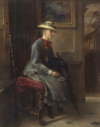 Interior with a Girl waiting