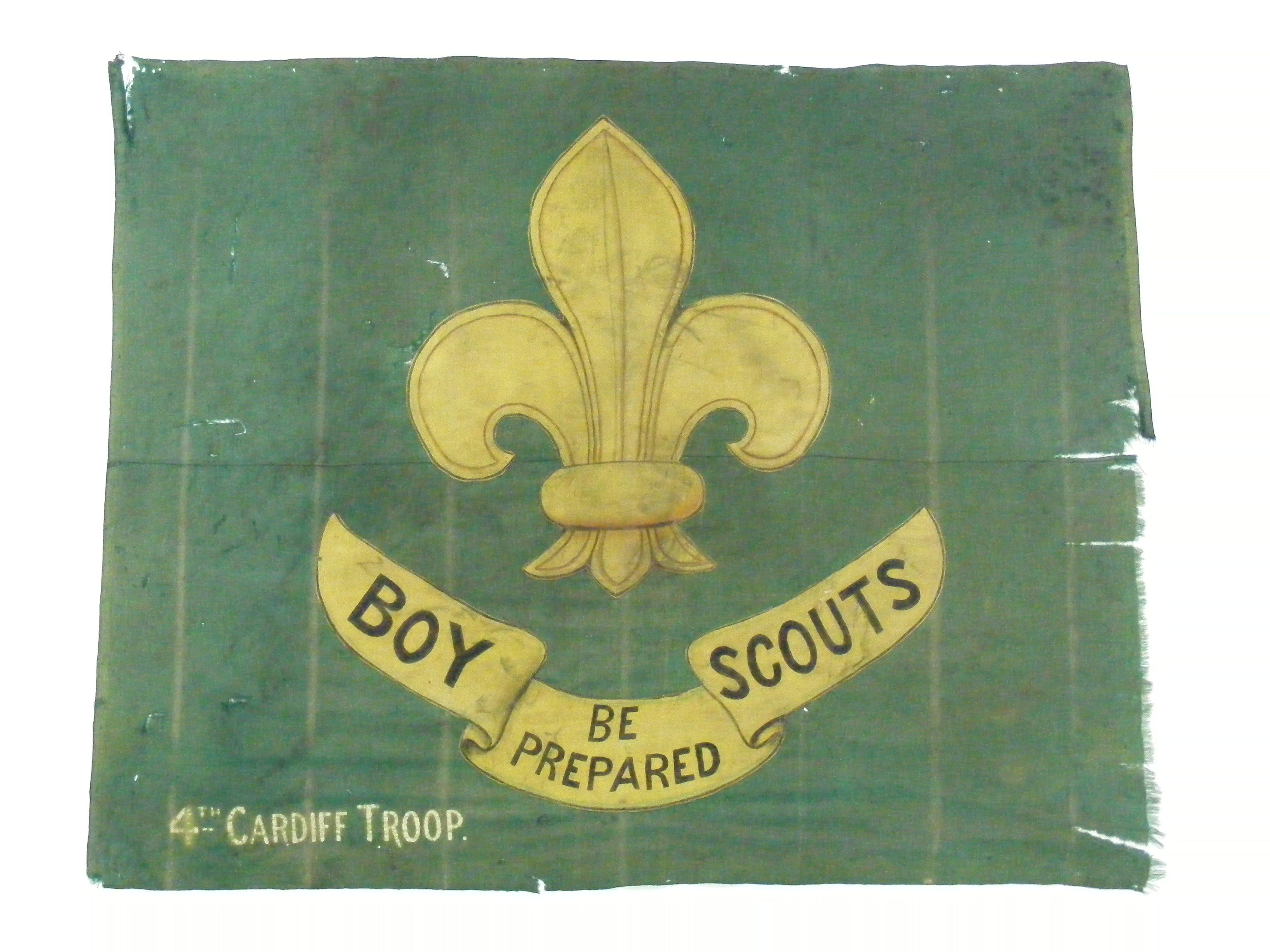 The flag of the 4th Cardiff Scout Troop