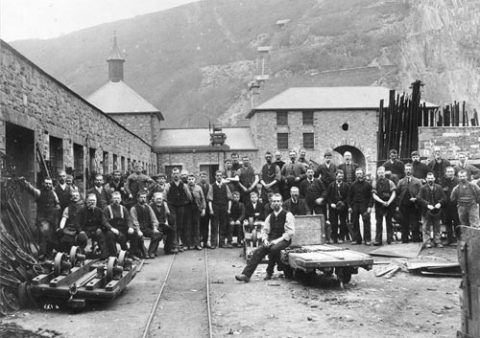 Some of the Gilfach Ddu workers, 1896