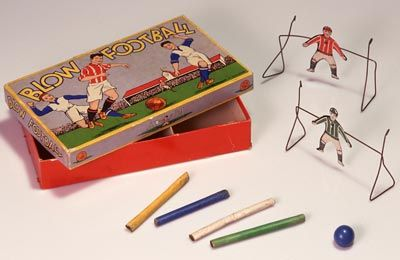 A game is made out of three types of paper as well as metal, plastic, pigments and paints