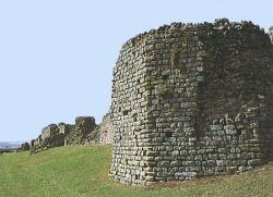 Caerwent: the south wall and towers