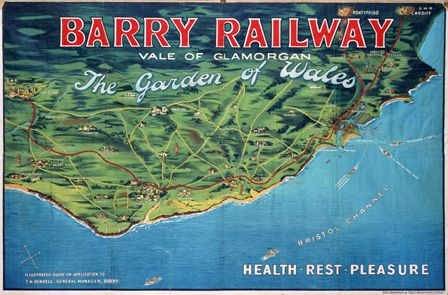 Barry Railway, Vale of Glamorgan. The Garden of Wales.