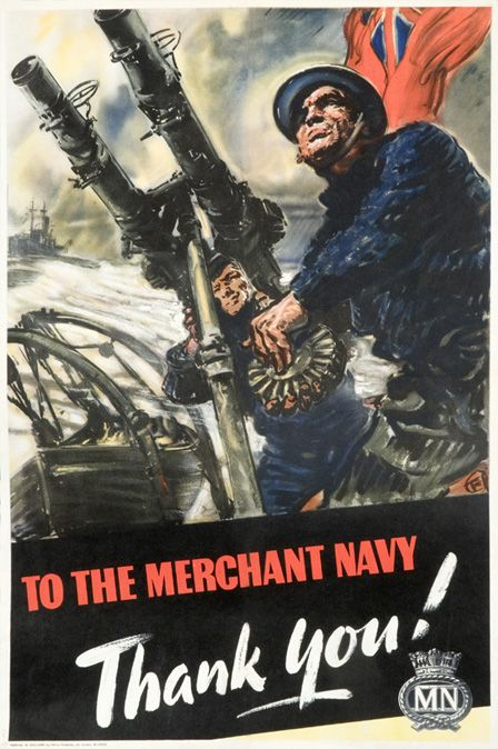 To the Merchant Navy thank you!