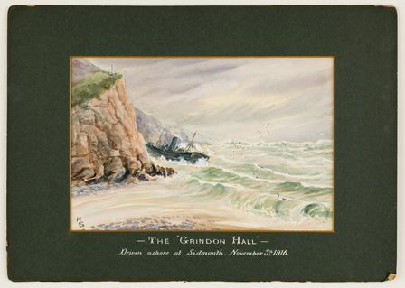 The GRINDON HALL Driven Ashore at Sidmouth, November 5th 1916