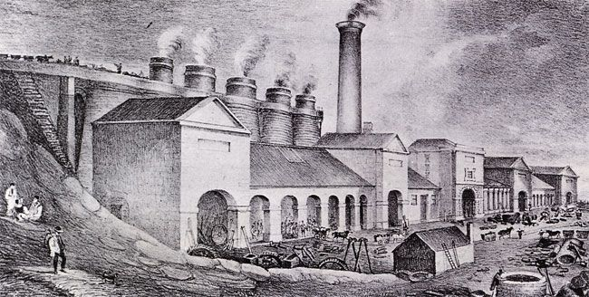 Abersychan Ironworks, 1866, run by the Ebbw Vale Co., 1852-83