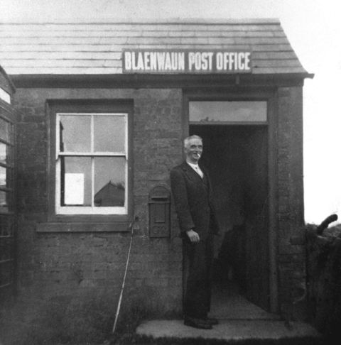 Wales's smallest post office at Blaenwaun, Dyfed