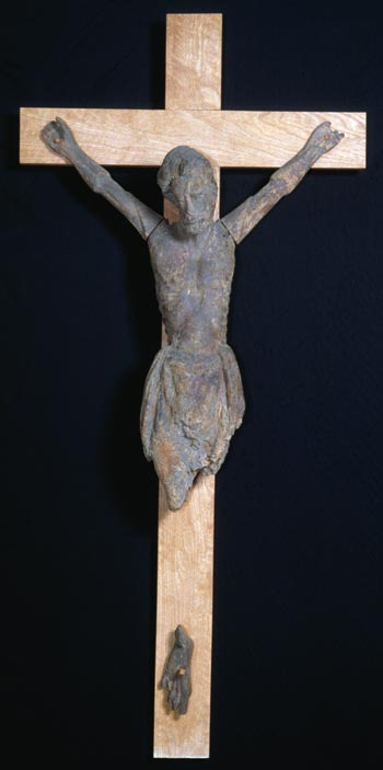 The crucifix figure from Kenys Inferiour, Monmouthshire