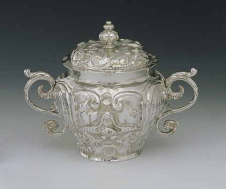 cup, two-handled and cover