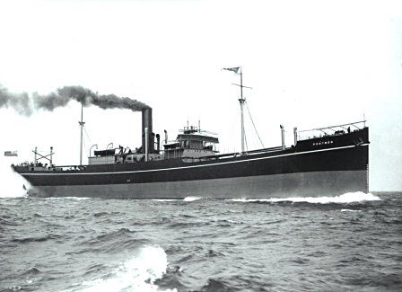 A typical Cardiff tramp steamer - the SS Pontwen, built in 1914.