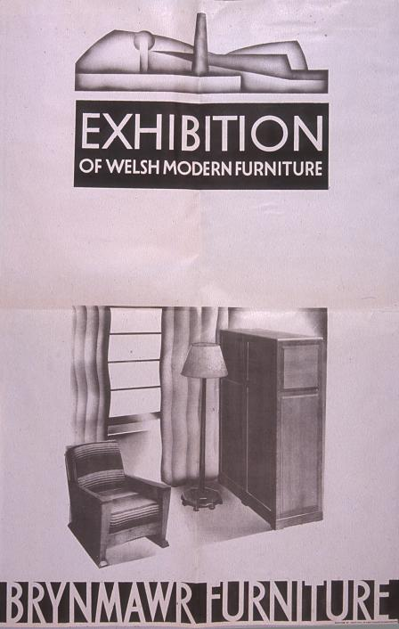 Advertising poster for the Brynmawr Furniture Company.