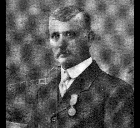 James Dally, wearing the Edward Medal. From the Great Western Railway Magazine, September 1915.