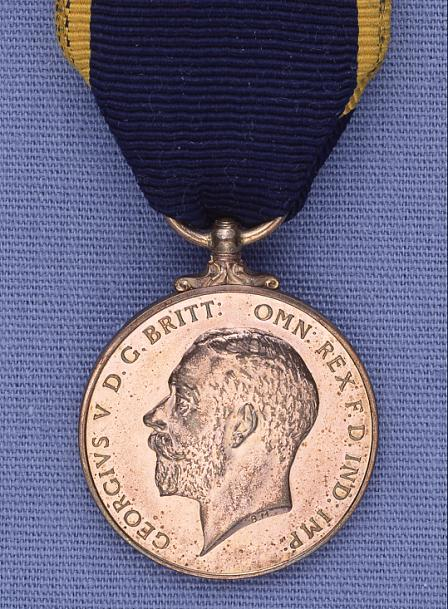 James Dally's Edward Medal, Industry, Second Class (bronze), front view.