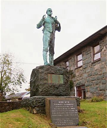 The memorial to Hedd Wyn at Trawsfynydd.