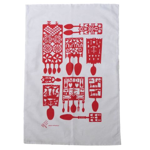 Lovespoon teatowel