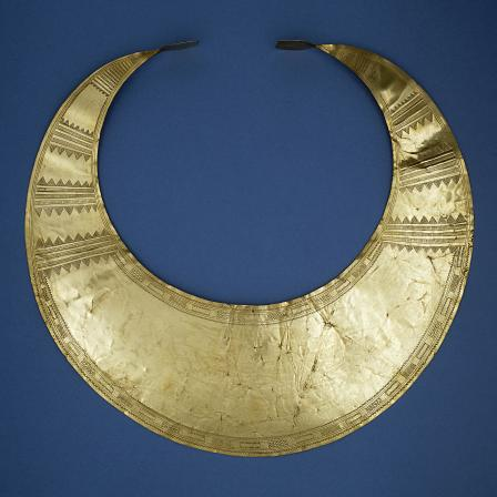 Gold lunula from Co. Kerry, Ireland. Image © Trustees of the British Museum.
