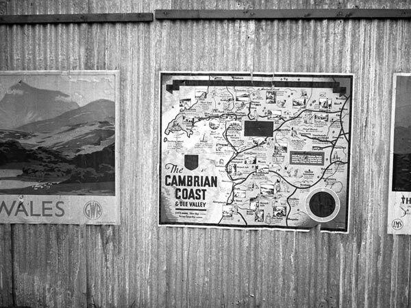 Railway Posters displayed at Machynlleth Station, circa. 1930s