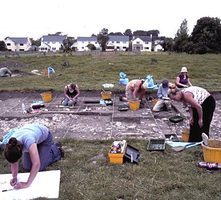 Excavations at Llanmaes in 2004.