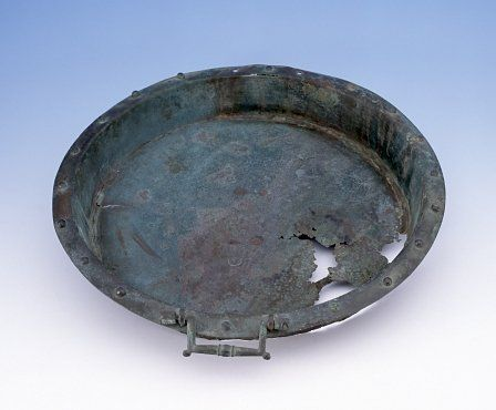 Copper-alloy tray or dish. 39.5cm (15.5 inches) in diameter.