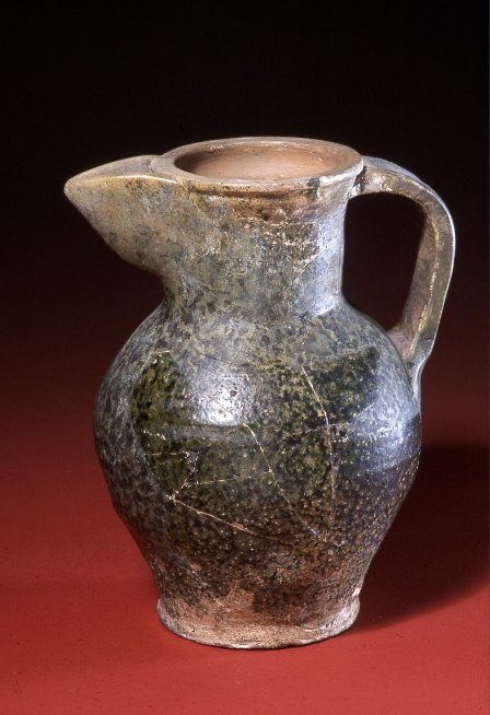 Jug found in the well at Castell-y-Bere, Gwynedd. 20.5cm (8.1 inches) tall.