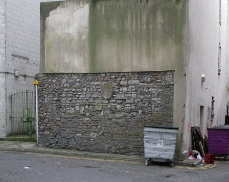 Medieval town wall, Cardiff. Sadly, this is the best preserved section of Cardiff's town walls. It is now hidden behind retail developments along Queen's Street.