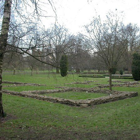 The remains of Blackfriars, Cardiff, in Cooper's Field beside the castle.